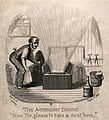A man operating a specially designed hydrotherapeutic chair. Wellcome V0011239.jpg