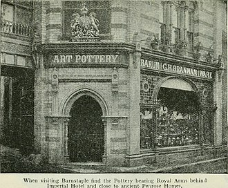 Brannam Pottery - The Brannam Pottery shop, c. 1914