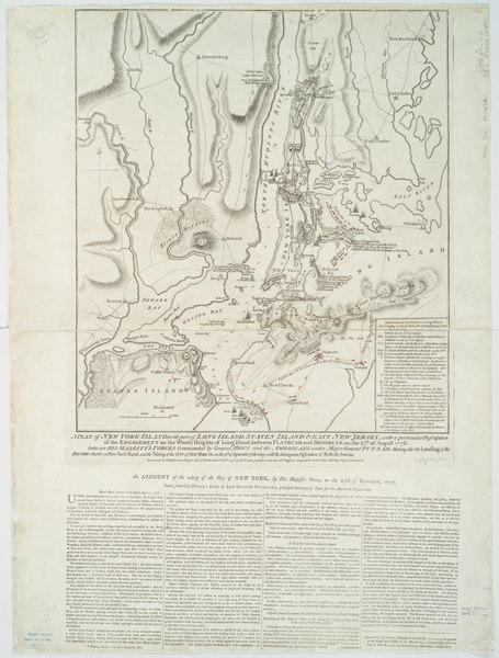 File:A plan of New York Island, with part of Long Island, Staten Island & east New Jersey - with a particular description of the engagement on the woody heights of Long Island, between Flatbush and NYPL434000.tiff