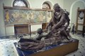 A sculpture of Mahatma Gandhi inside Aga Khan Palace..tif
