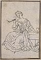 A woman smoking a pipe and holding a drinking glass. Etching Wellcome V0019066.jpg