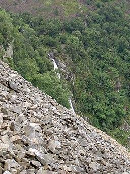 Aber Falls from Marian Rhaeadr-fawr scree slope - geograph.org.uk - 933670