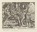 Achior voor Holofernes Geschiedenis van Judit en Holofernes (serietitel), RP-P-1904-3289.jpg