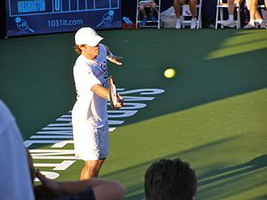 Adam Davidson (tennis) - Adam Davidson playing for the Sacramento Capitals in July 2006