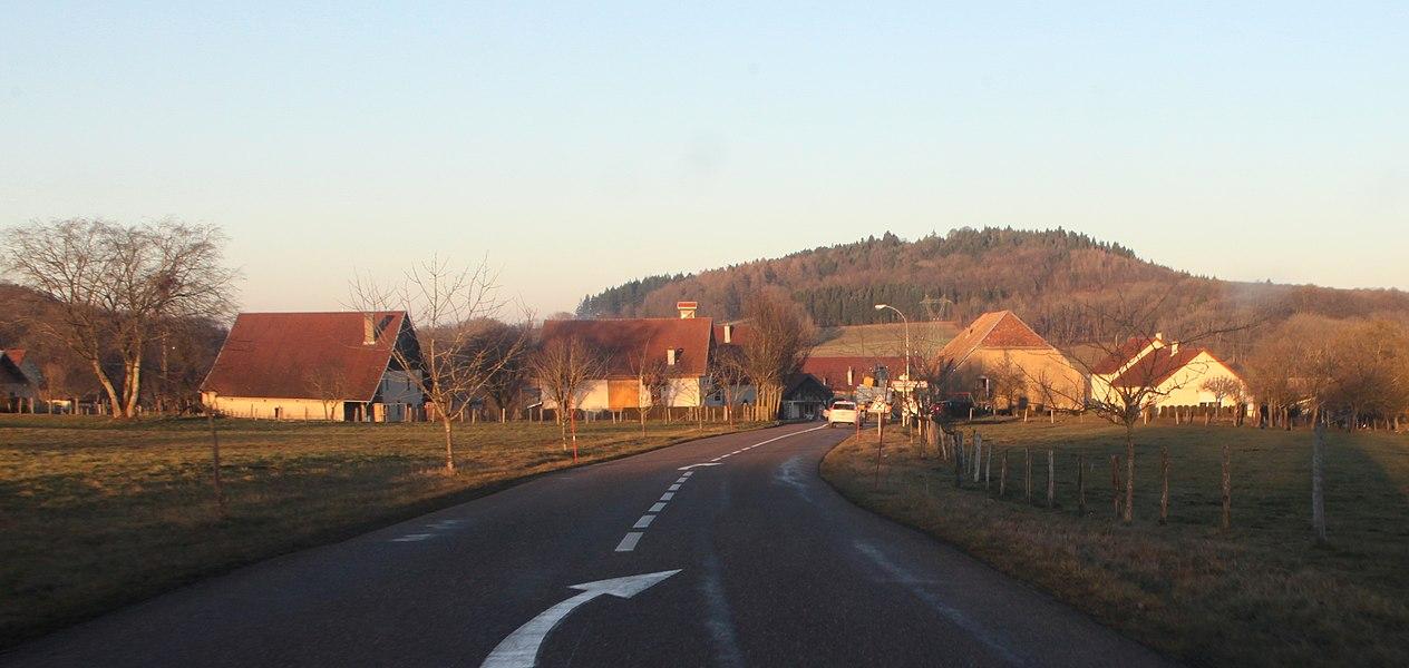 Vue d'Adam-lès-Passavant (Doubs).