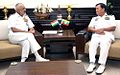 Admiral DK Joshi and Vice Admiral Thura Thet Swe during discussions in New Delhi.jpg