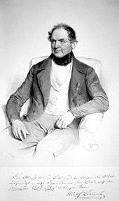 Adolf Bäuerle, lithograph by Joseph Kriehuber 1846 (Source: Wikimedia)