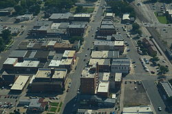 Aerial view of Abilene, Kansas