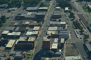 Abilene, Kansas - Aerial view of Abilene (2013)