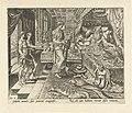 Ahasveros laat zich de kronieken voorlezen Geschiedenis van Ester (serietitel), RP-P-1904-3277.jpg