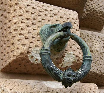 A ring to tie horses, Palace of Emperor Charles Vth, Alhambra, Granada, Spain.