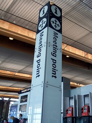 Meeting point - A signed meeting point at the airport Oslo Gardermoen