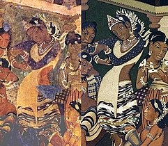 Ajanta dancing girl now and then.jpg