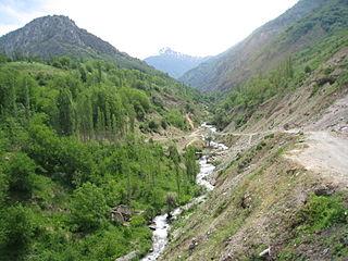 Aksarsoy River in Uzbekistan