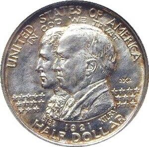 Alabama Centennial half dollar - Image: Alabama centennial half dollar commemorative obverse
