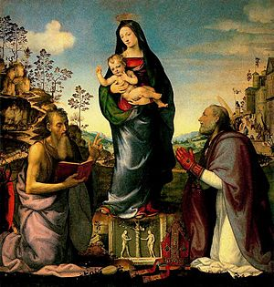 Mariotto Albertinelli - Madonna and Child with Saints
