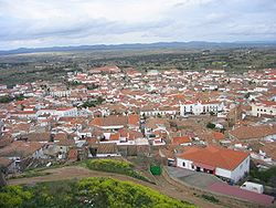 Alburquerque in 2005, as seen from their castle