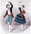 Aleksander Tarnowski i Konstancja Turczynowicz w tańcu kaczucza, 1847, lit. Henryk Hirszel.jpg