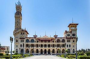 Montaza Palace - The Al-Haramlik Palace, at the Montaza Palace complex in the Al-Montaza royal gardens.