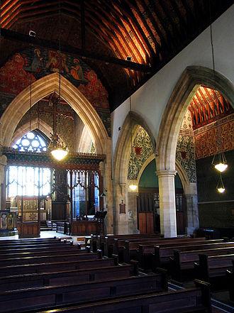 All Saints' Church, Cambridge - Image: All Saints' Church Cambridge interior