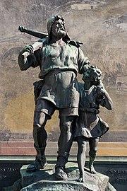 Guillaume Tell et son fils.