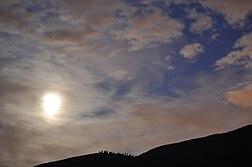 Altocumulus clouds over Cultus Lake, British Columbia