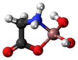 Ball-and-stick model of the aluminium glycinate complex