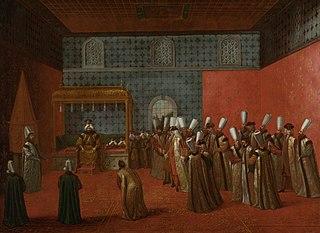 Ambassador Cornelis Calkoen at his Audience with Sultan Ahmed III
