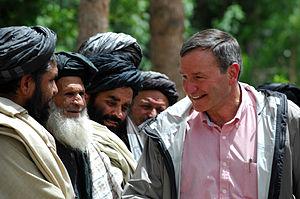 Karl Eikenberry - Visiting Afghan provincial elders as US ambassador in 2009