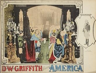America (1924 film) - Lobby card