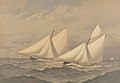 American Yachts. Extra Plate. For the America's Cup - 1885 - Near the Finish Puritan, Genesta RMG PY8802.jpg