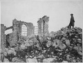 American advance northwest of Verdun. The ruined church on the crest of the captured height of Montfaucon. This was... - NARA - 530755.tif