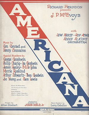 Americana (revue) - Sheet Music Cover