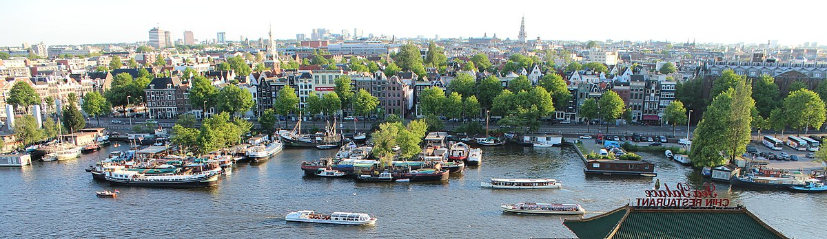 View of the city centre looking southwest from the Oosterdokskade Amsterdam Cityscape.jpg