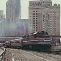 Amtrak LaSalle leaving Chicago, February 1983.jpg