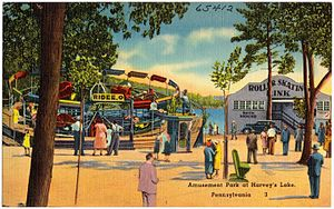 Harveys Lake (Pennsylvania) - Image: Amusement Park at Harvey's Lake, Pennsylvania (65412)