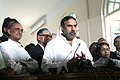 Anand Sharma and the Chief Minister of West Bengal, Kumari Mamata Banerjee jointly briefing the press after at an interactive session with captains of Industry, in Kolkata on November 04, 2011.jpg
