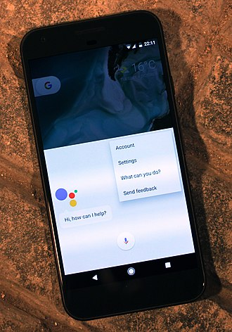 Virtual assistant (artificial intelligence) - Google Assistant running on a Pixel XL smartphone