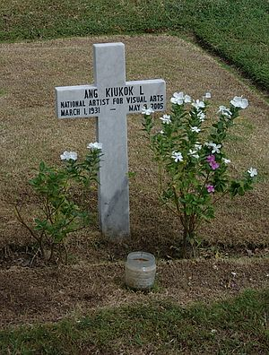 Ang Kiukok - The grave of Ang Kiukok at the Libingan ng mga Bayani.