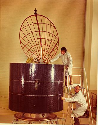 Anik (satellite) - Inspection of an Anik A in the early 1970s