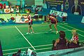 Ankara - BWF World Senior Badminton Championships - Bill & Sanne in MX 60, Round ! and coaches Joanne & Sue (11078020244).jpg
