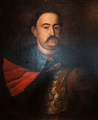 Portrait of King John III Sobieski in karacena and delia coat.
