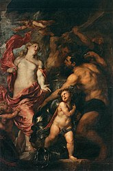 Anthony van Dyck: Venus Asks Vulcan to Cast Arms for her Son Aeneas