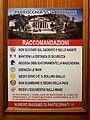 Anti Covid-19 rules at church Santissimo Salvatore in Terracina (LT), Lazio, Italy 2020-07-23.jpg