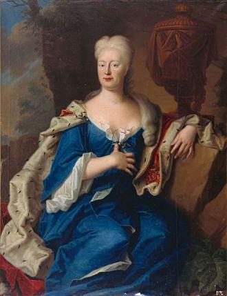 Princess Antoinette of Brunswick-Wolfenbüttel - Portrait by Christoph Bernhard Francke
