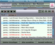 Aqualung screenshot main-playlist metal