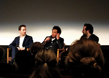 Aronofsky with frequent collaborators Matthew Libatique and Andrew Weisblum Aranofsky, Libatique, Weisblum 2011.jpg