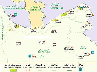 Aras Free Zone - Aras Free Economic and Industrial Zone map