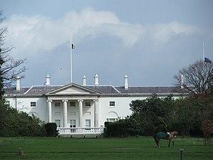 Politics of the Republic of Ireland - Áras an Uachtaráin in Dublin, official residence of the President of Ireland