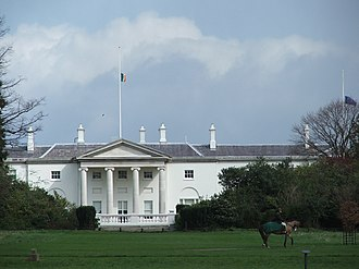 Politics of the Republic of Ireland - Áras an Uachtaráin in Dublin, official residence of the President of Ireland